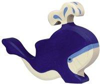 Holztiger Blauwal mit Fontäne