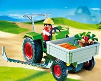 Playmobil 4497 Ladetraktor mit Mähbalken