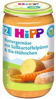 Hipp Buttergemüse mit Kartoffeln und zartem Bio - Hühnchen 2x 190g
