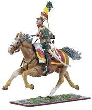 Schuco Österreichische Armee - Österreicher und braunes Pferd mit Gewehr seitlich