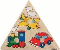 Beleduc Holz-Dreieck Puzzle Fahrzeuge