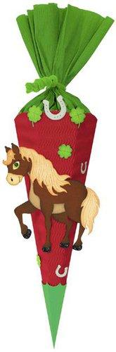 Bastelset Schultüte Pferd
