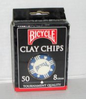 US Playing Cards Bicycle Pokerchips (50 Chips  8g)