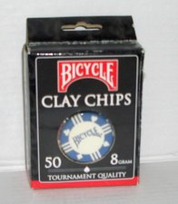 US Playing Cards Bicycle Pokerchips (50 Chips| 8g)