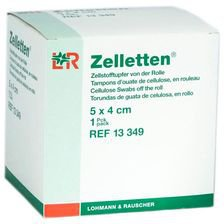 Lohmann & Rauscher Zelletten 5 x 4 cm Tupfer Gerollt Unsteril (300 Stk.)