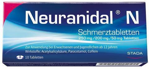 STADA Neuranidal N Tabletten (10 Stück)
