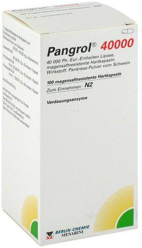 Berlin-Chemie Pangrol 40000 Kapseln Magensaftres. (100 Stück)