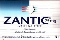 gsk Zantic 75 mg Magentabletten (6 Stk.)