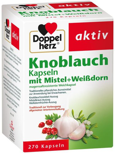 Doppelherz Knoblauch Mistel Weissdorn Kapseln (270 Stk.)