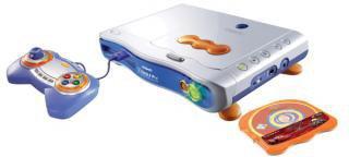 Vtech V.Smile Pro blau + Lernspiel Cars und CD-Player