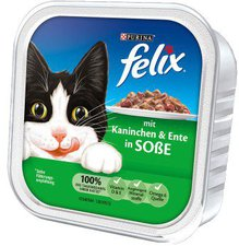Felix Leckerbissen in Soße Kaninchen & Ente (100 g)
