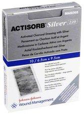 EMRA-MED Actisorb 220 Silver 9,5 x 6,5 cm Kompessen Steril (10 Stk.)