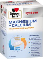 Doppelherz System Magn.+ Calcium + Kupfer + Mangan Tabl. (60 Stk.)