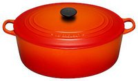 Le Creuset Tradition Bräter 35 cm oval ofenrot
