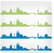 """JUNIWORDS Poster /""""Stadt Köln/"""" City Städte Skyline Deutschland DIN A4 A3 A2 A1"""