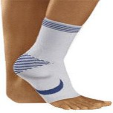 Bort TaloStabil Knöchelstütze mit Silikonpolstern links silber Gr. L