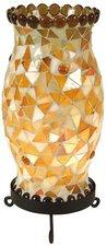 Näve 325106 Tischleuchte Mosaik Höhe 27cm orange