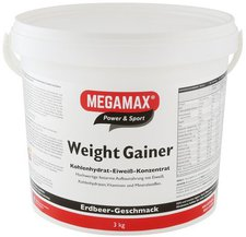 Megamax Weight Gainer Erdbeere Pulver (3000 g)