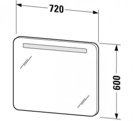 duravit puravida spiegel mit beleuchtung preisvergleich ab 432 52. Black Bedroom Furniture Sets. Home Design Ideas
