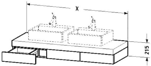 duravit konsole fogo 150 cm preisvergleich ab 769 32. Black Bedroom Furniture Sets. Home Design Ideas