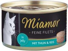 Miamor Feine Filets Heller Thunfisch & Reis (100 g Dose)