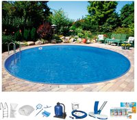 Summer Fun Ibiza Pool-Set 350x120cm 10-tlg