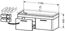 Duravit 2nd Floor 644859 Waschtischunterbau