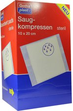 Gothaplast Saugkompressen Steril 10 x 20 cm (25 Stk.)