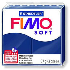 Fimo Soft transparentfarben - windsorblau 56g