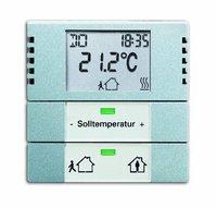 Busch-Jaeger Raumtemperaturregler Heiz-/Kühlbetrieb (6124-866-101)