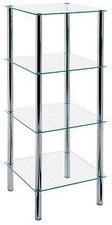 HAKU Glas-Regal rechteckig (4 Ablagen)