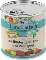 Dr. Alder's Landfleisch Pur Rinderherzen, Reis & Wildapfel (800 g)