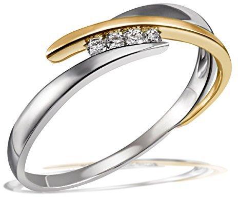 Gold Verlobungsring Bicolor Mit Brillant Gunstig Kaufen