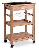 Zeller Küchenrollwagen, Bamboo/Glas-Top (13778)