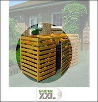 Promex Mülltonnenbox für 2 Tonnen kein Deckel (325/12)