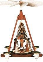 Müller Kleinkunst 1-stöckige Weihnachtspyramide Christi Geburt (30 cm)