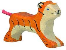 Holztiger Tiger, klein, laufend