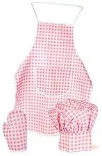 Egmont Toys Kochschürzen Set pink-weiß für Kinder