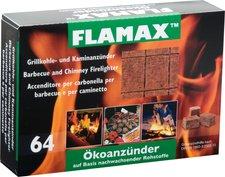 Flamax Ökologische Anzünder 64 Würfel Zellophan verpackt