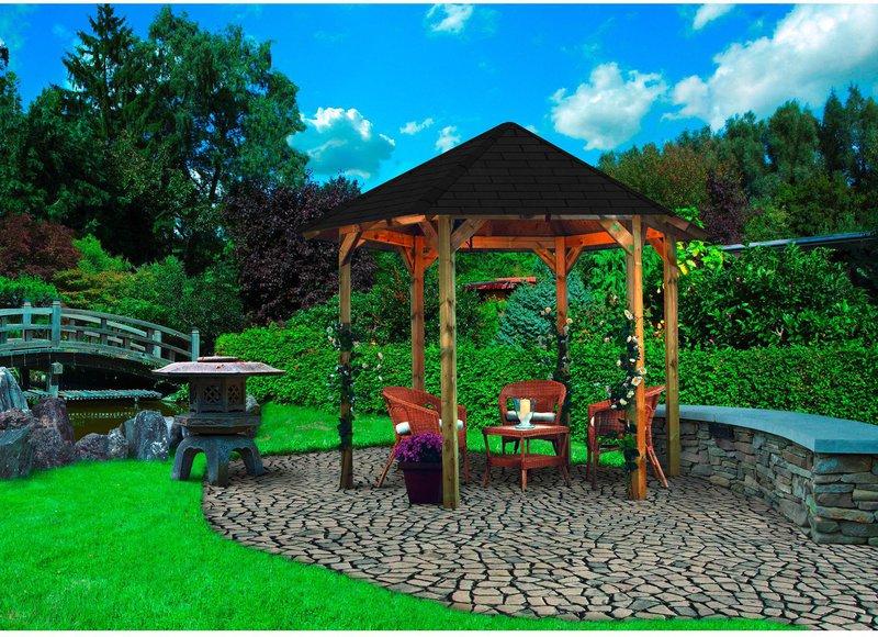 6 eck pavillon preisvergleich ab 349 00. Black Bedroom Furniture Sets. Home Design Ideas