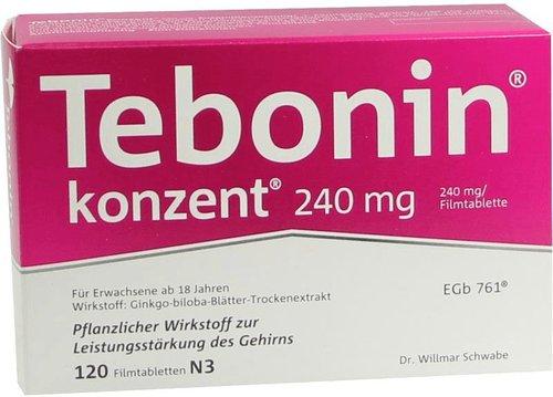 Schwabe Tebonin Konzent 240 mg Filmtabletten (PZN 7752045)