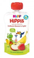 Hipp Früchte-Spaß Erdbeere-Banane in Apfel
