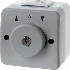 Berker Jalousie-Schlüsselschalter mit Schloss und Aufdruck (327215)