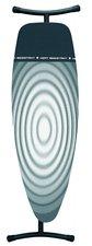 Brabantia Bügeltisch D 135x45 cm mit wärmebeständiger Ablagezone Titan Oval