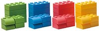 Eduplay Q-Blocks - Kreativ Soft Bausteine 64-teilig