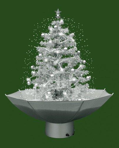 Monopol selbstschneiender Weihnachtsbaum mit Schneefall 75 cm