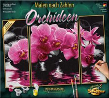 Schipper Malen nach Zahlen Orchideen Triptychon