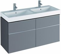Keramag iCon Waschtischunterschrank für Doppelwaschbecken platin (119 x 62 x 47,7 cm)