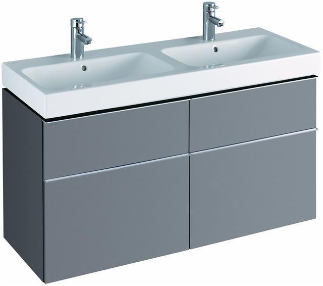 keramag icon waschtischunterschrank f r doppelwaschbecken platin 119 x 62 x 47 7 cm. Black Bedroom Furniture Sets. Home Design Ideas