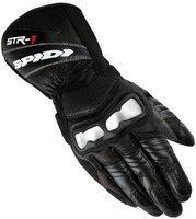 Spidi STR-1 Leather Gloves Black